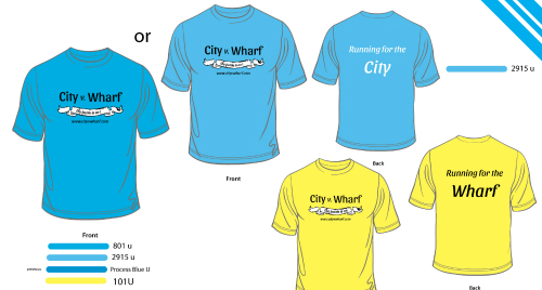 CityvWharf 5k Run Challenge TShirts
