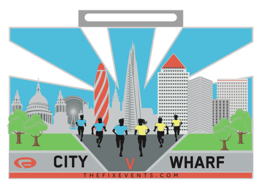 City v Wharf 5k Corporate Run Challenge London Victoria park
