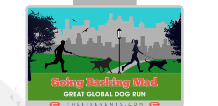 Going Barking Mad Great Global Dog Run Medal