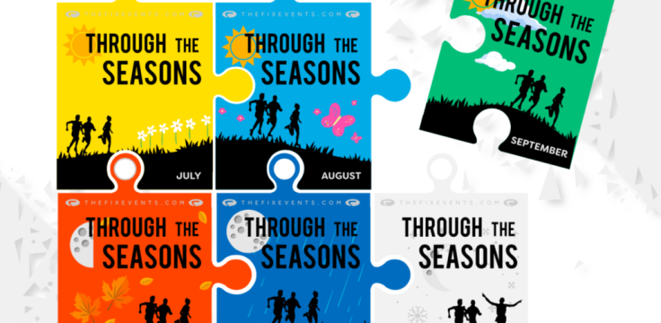Through the Seasons July Virtual Run Challenge Medal