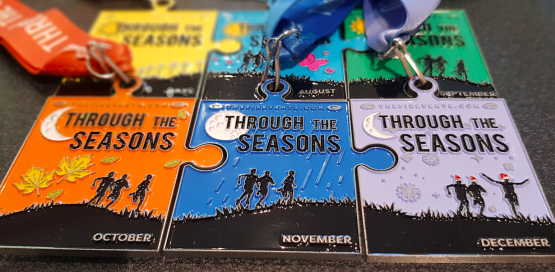 Through the Seasons November Virtual Run Challenge Medal