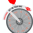 Virtual Get on Your Bike Cycle Challenge Medal