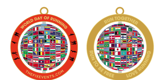 World Day of Running Virtual Run Challenge Medal Version 2