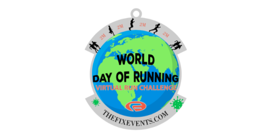 World Day of Running Virtual Run Challenge Medal